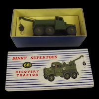 Boxed Dinky Supertoys 661 Scammell Recovery Tractor