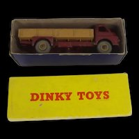 Boxed Dinky 408 Big Bedford Lorry In Maroon And Brown