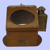 Cased Ships Compass By Plath Of Germany With Oil Burner