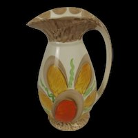 Myott, Son & Co. Art Deco Chicken Neck Vase With A Stylised Flower Pattern