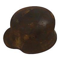 WW1 Austrian M17 Camouflage Helmet In Barn Find Condition
