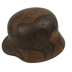 German WW1 M16 Stalhelm In Camo Finish
