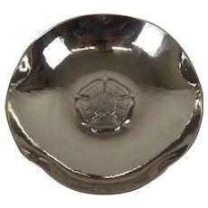 Keswick School Of Industrial Art Tudor Rose Stainless Steel Arts & Crafts Bowl 1933 Onwards