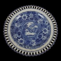 Circa 1790-1810 Possibly Minton Pearlware Pottery Plate
