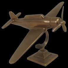 Rare Wartime Brass Model Of The Japanese WW2 Torpedo Bomber Nakajima B5N