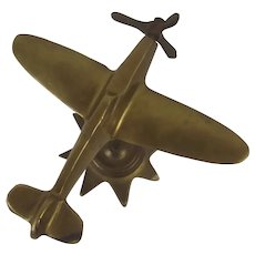 Wartime Brass Model Of The Supermarine Spitfire