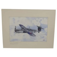 Fairey Barracuda Acrylic Painting (Signed By WW2 Pilot) By Robert Bearman