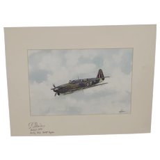 Fairey Firefly Acrylic Painting (Signed By WW2 Pilot) By Robert Bearman