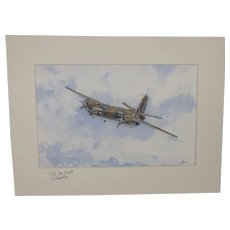 Martin B-26 Marauder Acrylic Painting (Signed By WW2 Pilot) By Robert Bearman
