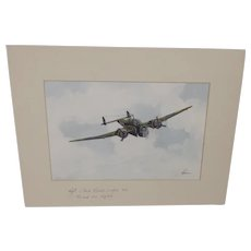 Lockheed Hudson Acrylic Painting (Signed By WW2 pilot) By Robert Bearman