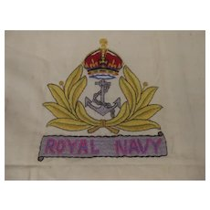 WW2 Embroided Royal Navy Fabric