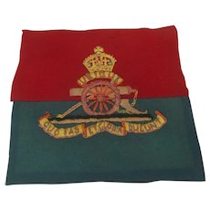 WW2 Royal Artillery Embroidery Panel