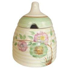 Clarice Cliff Newport Pottery Rhodanthe Pattern Beehive Honey Pot
