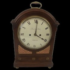 Regency Mahogany And Brass Inlaid Twin Fusee Bracket Clock Farr & Son Bristol