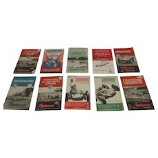 8 International Motor Racing At Goodwood Official Sovenier Programmes From 1952 To 1964