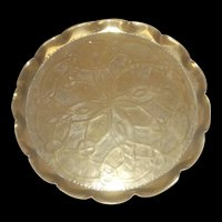 Arts & Crafts Brass Tray Embossed With Celtic Knot Motifs