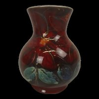 Anita Harris Vase Hand Painted With Flowers