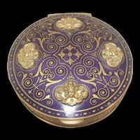 Victorian Gothic Revival Gilt Bronze And Enamel Case