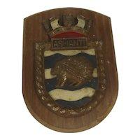 HMS Ashanti Tribal Class Frigate Boat Badge
