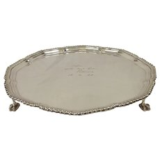 1950's Harrods Silver Plate Engraved Tray