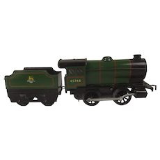 Hornby O Gauge Tinplate Clockwork Locomotive With Tender Numbered 45746