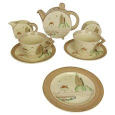 Clarice Cliff Napoli Bonjour Tea Set