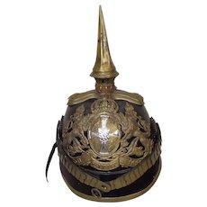 Imperial German Army Bavarian Reserve Officers M1871 Pickelhaube Helmet
