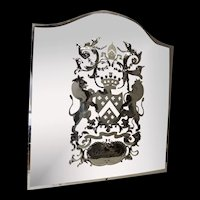 Circa 1880 Victorian Berkeley Cut Glass Public Bar Mirror