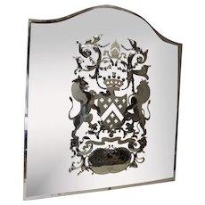 Circa 1880 Victorian Berkeley Cut Glass Public Bar Mirror