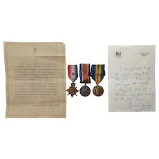 A Winston Churchill Documents and Medal Trio Group
