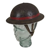 WW2 Lieutenants Auxiliary Service Helmet With Liner And Chin Strap
