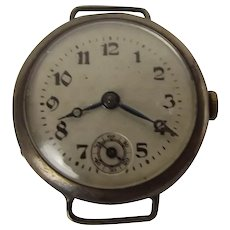 Circa 1910 Pre-Trench Type Silver Watch