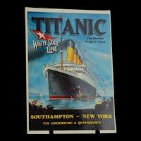 Titanic Survivor Beatrice Landstrom Autograph on Commemorative Titanic Postcard