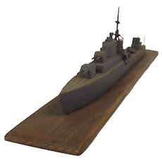 WW2 Recognition Model Of A Royal Navy Destroyer #1