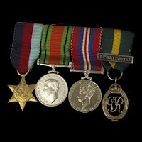 WW2 British Set Of Miniature Medals Including The Territorial