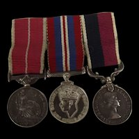 Trio Of MBE, WW2 War Medal And RAF Long Service Miniature Medals