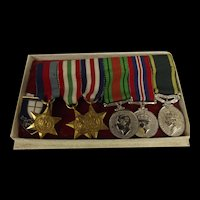 8th Army WW2 Territorial Medal Miniatures Set Of Six