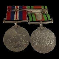 WW2 British Medal Pair