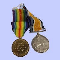 British WW1 Royal Artillery Medal Pair To Gunner A. Levey