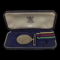 Cased British Civil Defence Medal