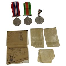 WW2 Medal Set  Of Two And George V Silver Jubilee Medal