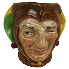 Small Royal Doulton Character Jug Jester Designed By Charles Nokes With A Backstamp