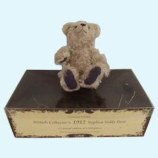 Steiff British Collectors 1912 Replica Teddy Bear With Box