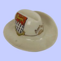 WW1 Savoy Chichester Crested China Model Of An Anzacs Cap