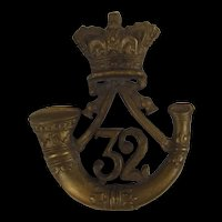 Victorian 1881-1895 Duke Of Cornwall Light Infantry Glengarry Cap Badge