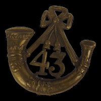 Victorian 1874-81 Monmouth Light Infantry Glengarry Cap Badge