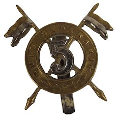 5th Royal Irish Lancers Officers Cap Badge