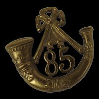 c1880 85th Kings Regiment Of Light Infantry Cap Badge