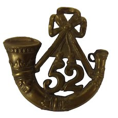 c1880 52nd Oxfordshire Light Infantry Cap Badge
