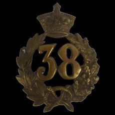 c1873 38th 1st Staffordshire Glengarry Cap Badge